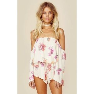 Blue Life Off The Shoulder Romper